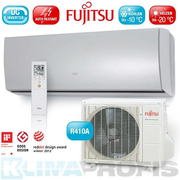 Fujitsu Nordic ASYG-14 LTCB Inverter Design Wandklimageräte Set - 5,4 kW