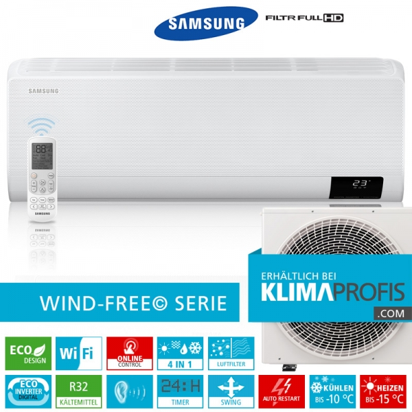 Samsung Wind-Free Comfort AR 18 R32 Eco Digital Inverter Wandklimageräte Set - 6,7 kW