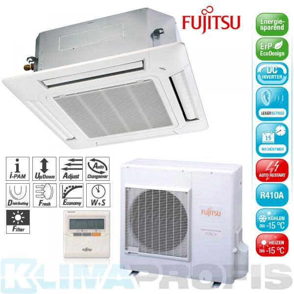 Fujitsu AUYG 30 LRL Deckenkassetten Set - 10,0 kW