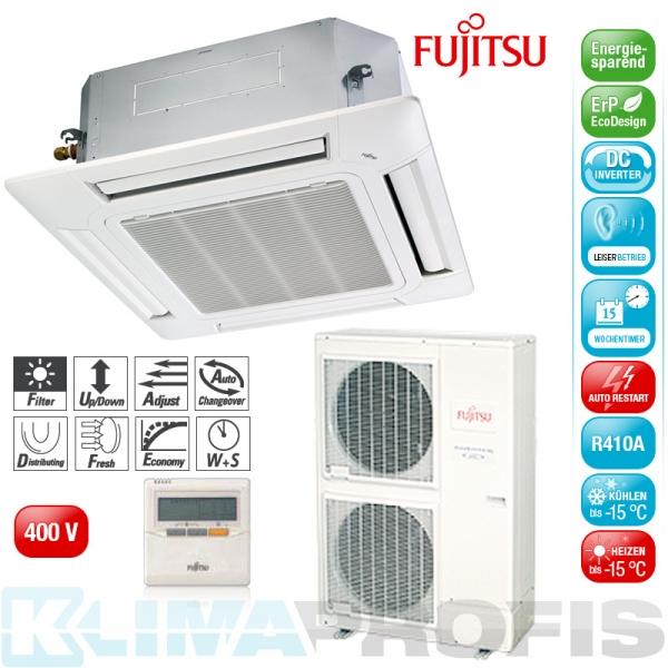 Fujitsu AUYG-54 LRL Deckenkassetten Set, 400V - 16,0 kW