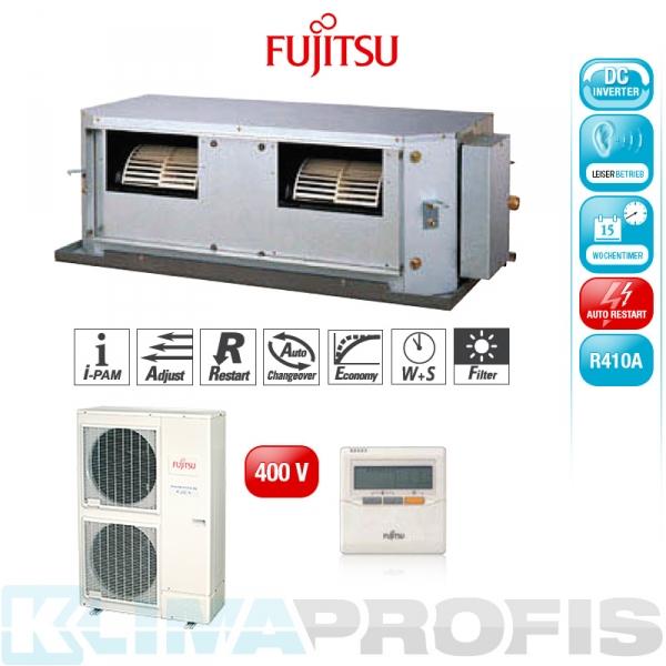 Fujitsu ARYG 54 LHT Zwischendecken- Klimageräte Set, 400V - 14,0 kW