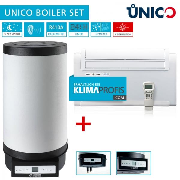 Unico Truhenklimagerät inkl. Boiler Set - 2,6 kW