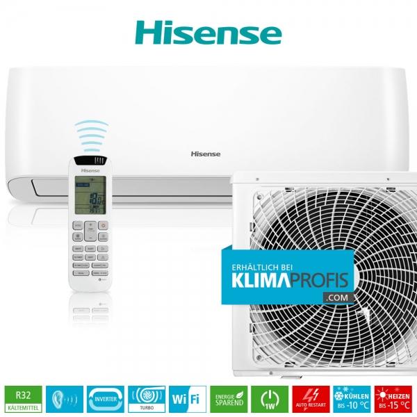 Hisense Energy Pro QE25XV0AG R32 WiFi Inverter Wandklimagerät-Set - 4 kW