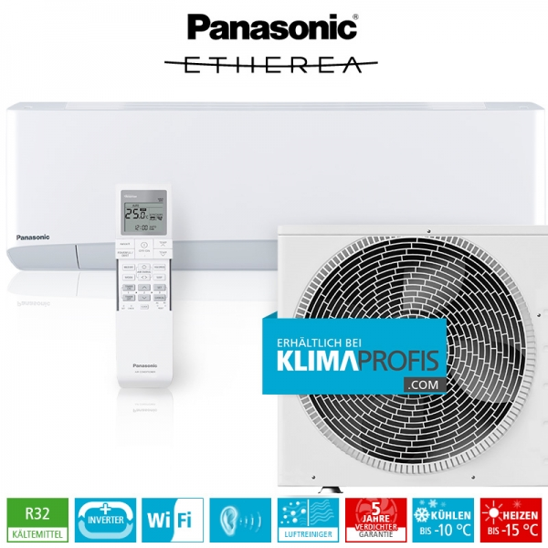 Panasonic Etherea CS-Z20VKEW WiFi R32 Inverter Plus Klimageräte-Set - 2,4 kW