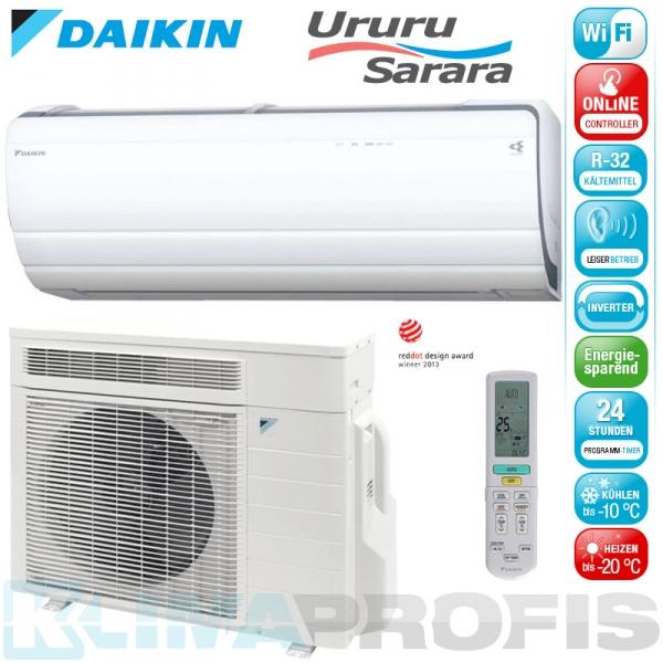 Daikin Ururu Sarara FTXZ25N WIFI Inverter Klimageräte-Set 2,5 kW