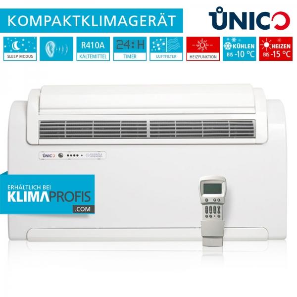 Unico R 10 HP Wand-Truhenklimagerät - 2,3 kW für sehr kalte Klimazonen