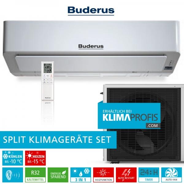 Buderus Logacool AC186i R32 Optimal Inverter Klimageräte-Set - 3,5 kW