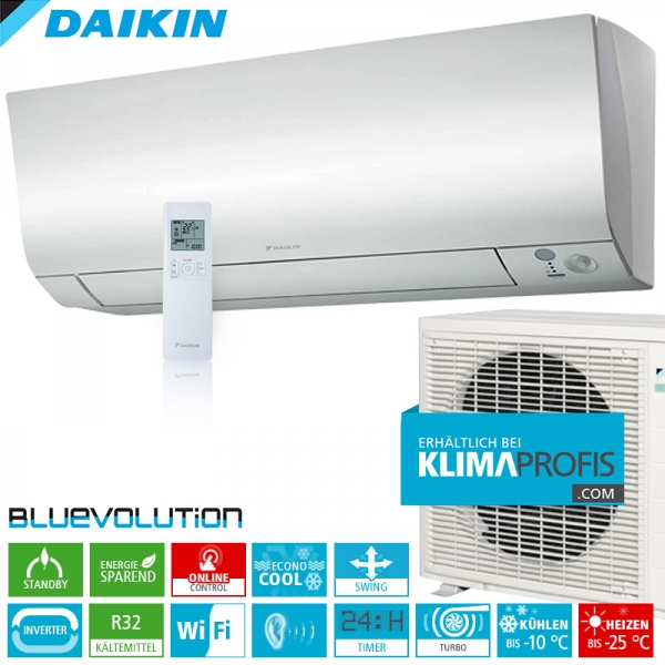Daikin Perfera FTXTM40M ColdRegion WiFi Inverter Wand-Klimageräte-Set 4,0 kW
