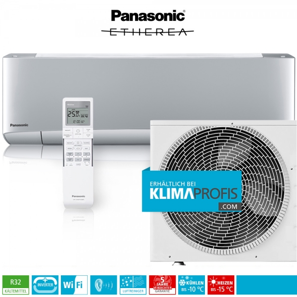 Panasonic Etherea CS-XZ50VKEW WiFi R32 Inverter Plus Klimageräte-Set - 6 kW