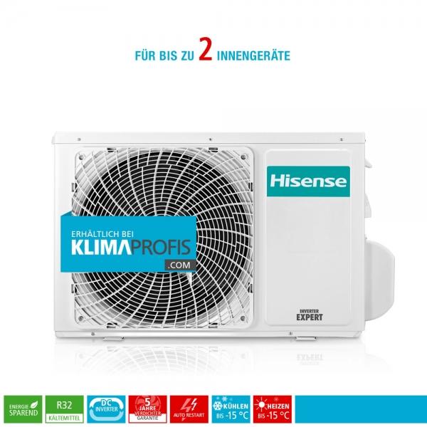 Hisense FreeMatch 2AMW42U4RRA R32 Multisplit Inverter Außengerät 5,5 kW für 2 Innengeräte