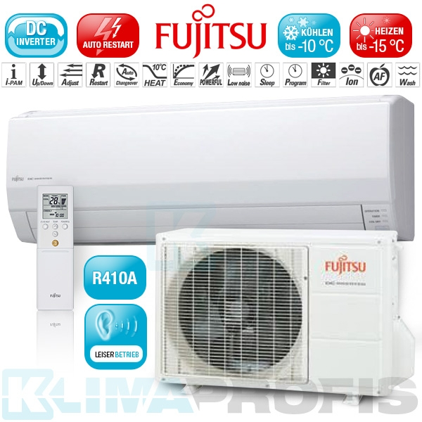 Fujitsu ASYG-14LEC Inverter Kompakt Wandklimageräte Set - 4 kW
