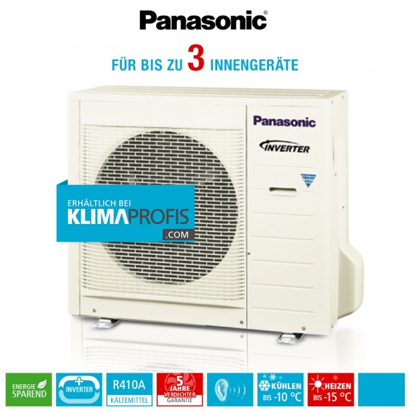 Panasonic CU-3E23SBE Multi-Split Inverter Plus Außengerät - 8 kW