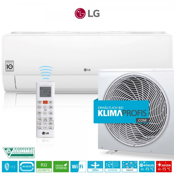 LG Deluxe DC12RQ Dual Inverter R32 - Wandklimageräte Set - 4 kW