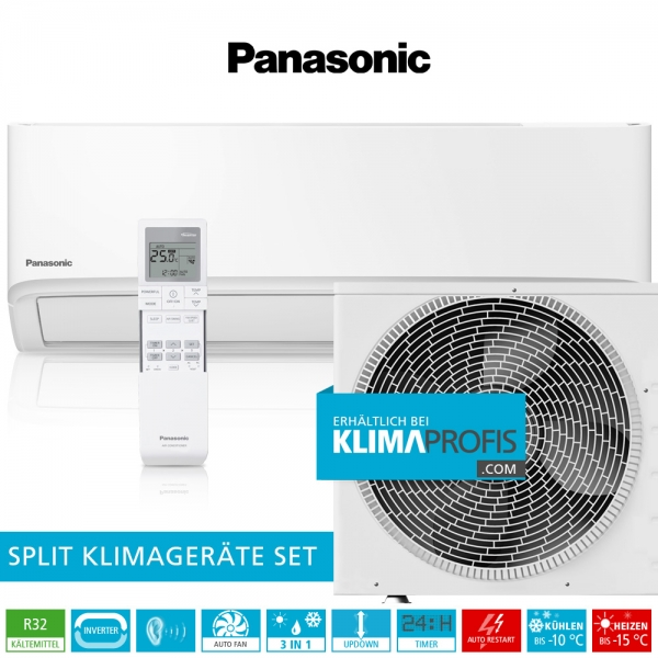 Panasonic CS-TZ20WKE R32 WiFi Standard Inverter Klimageräte-Set - 2,4 kW