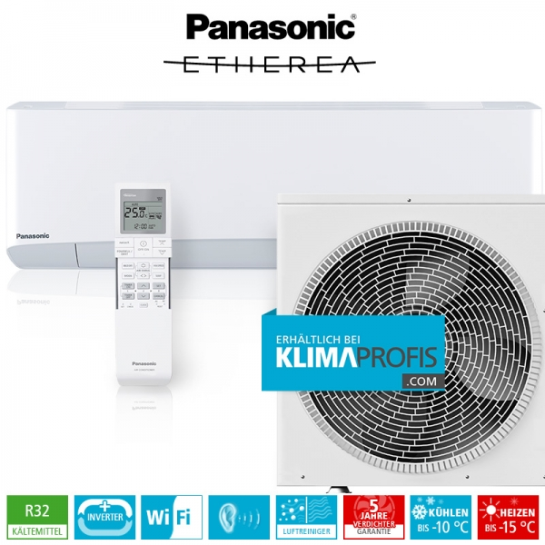 Panasonic Etherea CS-Z42VKEW WiFi R32 Inverter Plus Klimageräte-Set - 5 kW