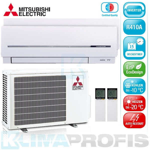 Mitsubishi Nordic MXZ-2D53VAH Multi-Split Inverter Set - DUO-WG-2
