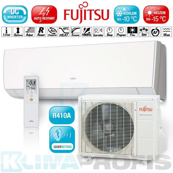 Fujitsu Nordic ASYG-14LMCB Standard Wandklimageräte Inverter Set - 6kW Heizleistung max.