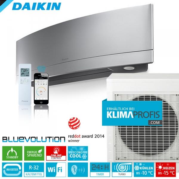 Daikin Emura FTXJ50MS R32 WiFi Inverter Klimageräte-Set 5,3 kW