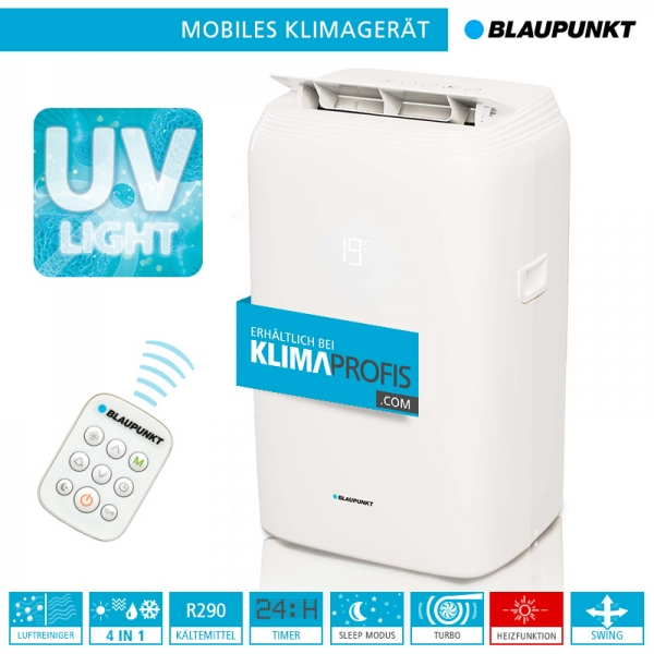 Mobiles Klimagerät Blaupunkt Moby Blue S 1111E UV - 3,2 kW für Räume bis 30 qm