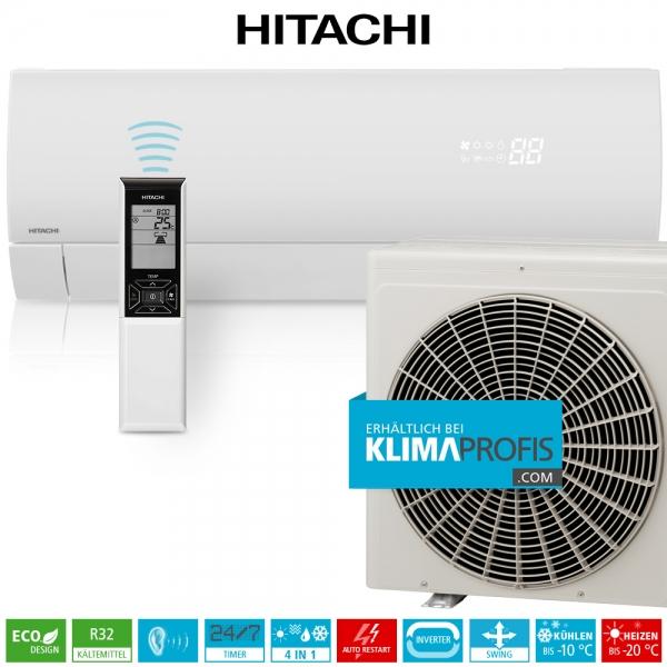 Hitachi Premium RAK-25PSEW R32 Inverter Wandklimageräte Set - 3,4 kW