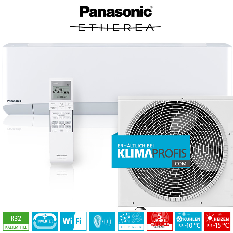 panasonic etherea cs z25tkew r32 inverter plus klimager te set 3 2 kw wandklimager te. Black Bedroom Furniture Sets. Home Design Ideas
