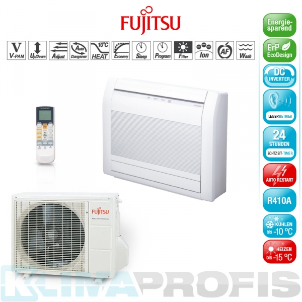 Fujitsu AGYG14LVC Inverter Standklimageräte-Set - 5,0 kW