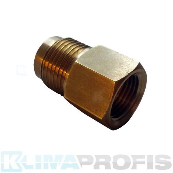 Reduziertes Doppelventil MXF M3/8 Zoll - F1/2 Zoll