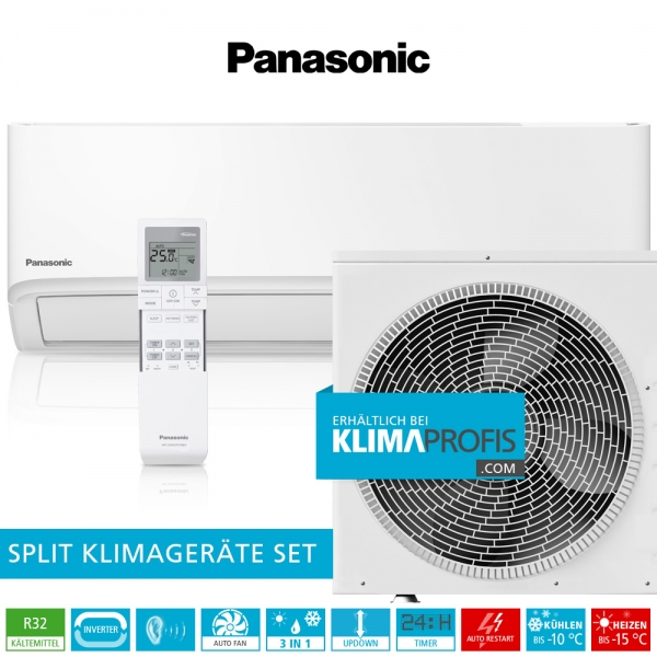 Panasonic CS-TZ60WKE R32 WiFi Standard Inverter Klimageräte-Set - 6,6 kW