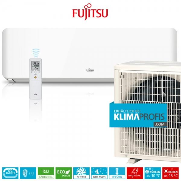 Fujitsu ASYG-09KMTB R32 Inverter Design Wandklimageräte Set - 3,2 kW
