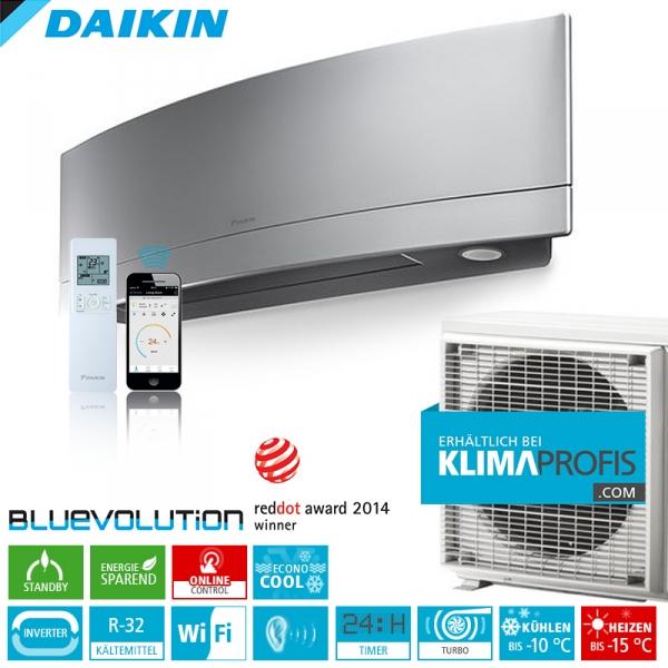 Daikin Emura FTXJ20MS R32 WiFi Inverter Klimageräte-Set 2,8 kW