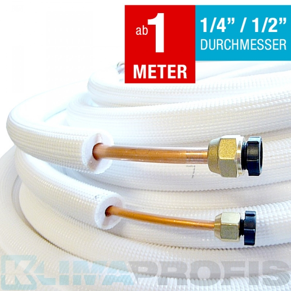 Isolierte Kältemittelleitung, 6/12mm