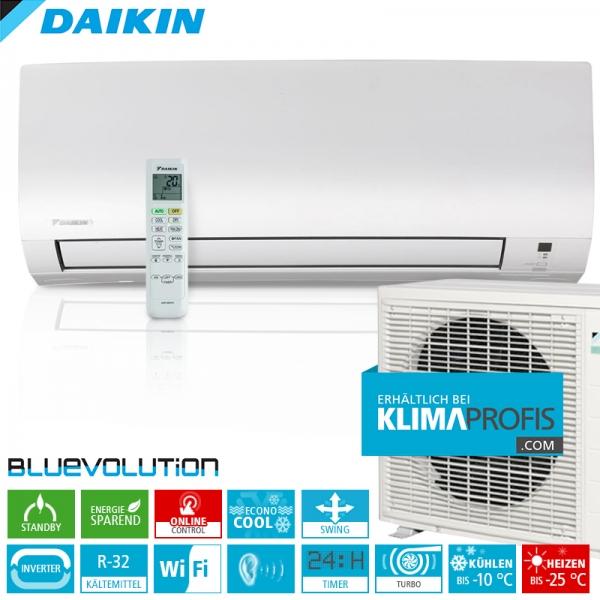 Daikin Comfora FTXTP35K ColdRegion WiFi R32 Inverter Wand-Klimageräte-Set 4,4 kW