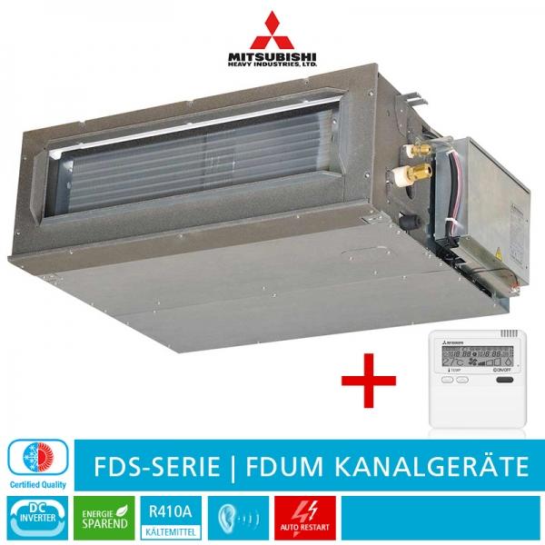 Mitsubishi Heavy FDUM 71 VF Kanalklimagerät, FDS-Serie - 7,1 kW