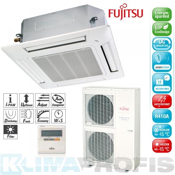 Fujitsu AUYG-45LRL Deckenkassetten Set - 14,0 kW