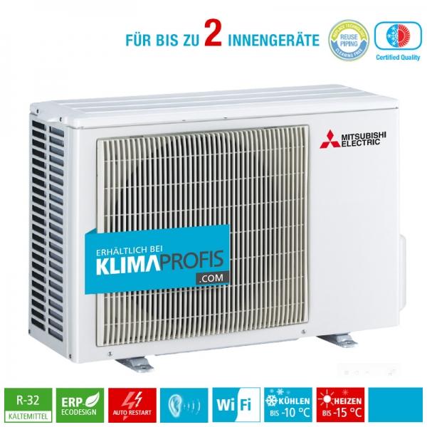 Mitsubishi Electric MXZ-2F33VF3 R32 Multisplit Inverter Außengerät 3,3 kW für 2 Innengeräte