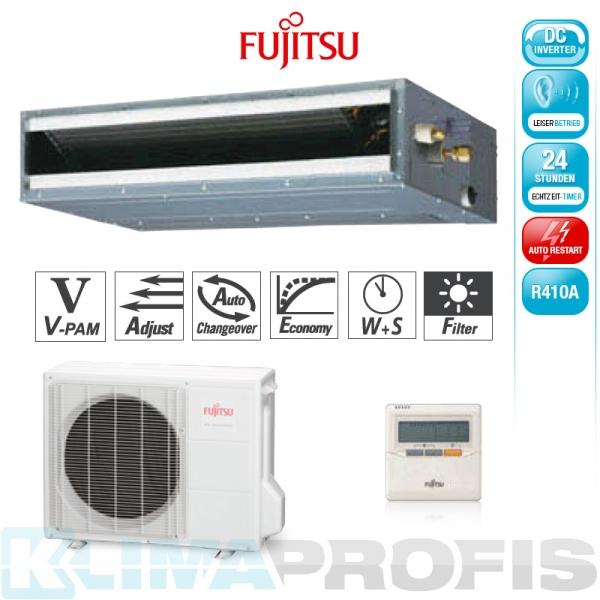 Fujitsu ARYG 12 LLTB Zwischendecken- Klimageräte Set - 4,4 kW
