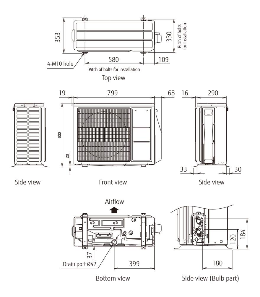 Fujitsu AOYG18KBTA2 Multisplit Außengerät R32 Duo-Inverter - 5,8 kW
