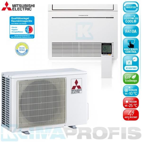 Mitsubishi MFZ-KJ35VEHZ Hyper Heating Inverter Truhenklimageräte Set - 3,7 kW