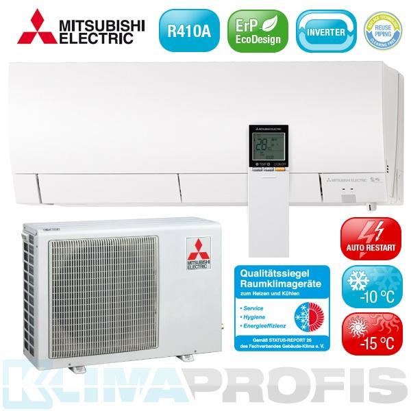 Mitsubishi MSZ-FH35VE Deluxe Design Inverter Klimageräte-Set - 4 kW
