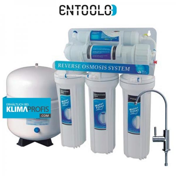 5 Stufen Umkehrosmoseanlage Alpha bis 110 Liter/Tag, 3 Bar mit Pumpe