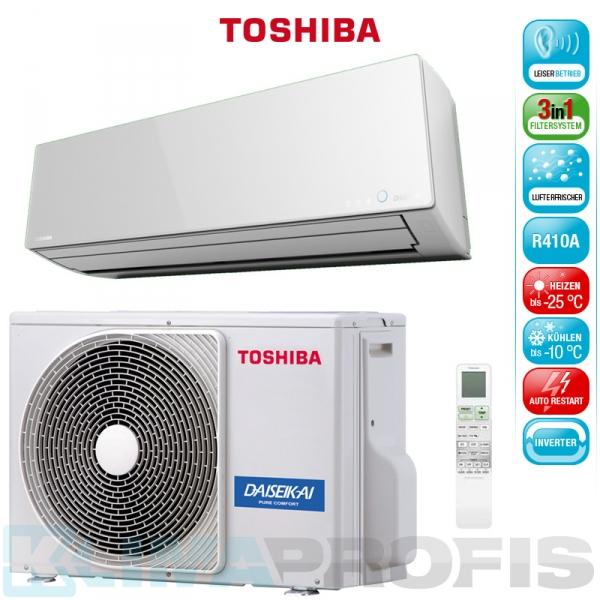 Toshiba Super Daiseikai 8 RAS 13G2AVP-E Wandklimageräte Set - 4,1 kW
