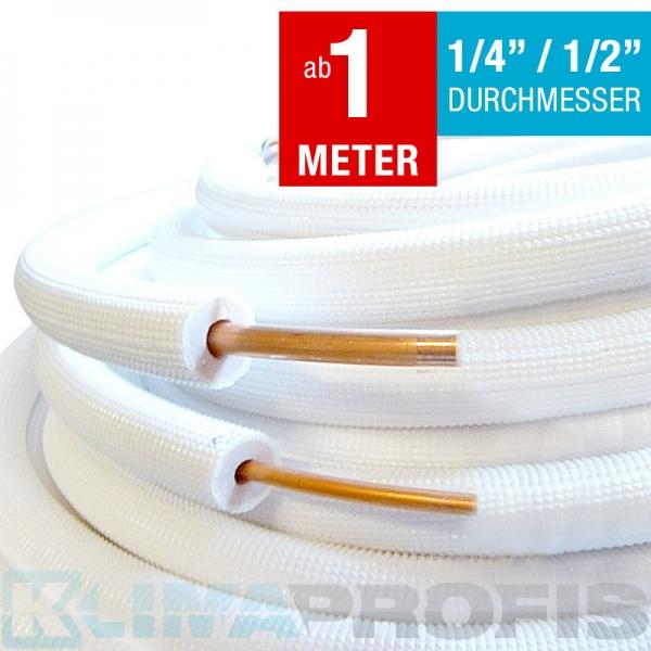 Isolierte Kältemittelleitung 6/12mm, ohne Verschraubung