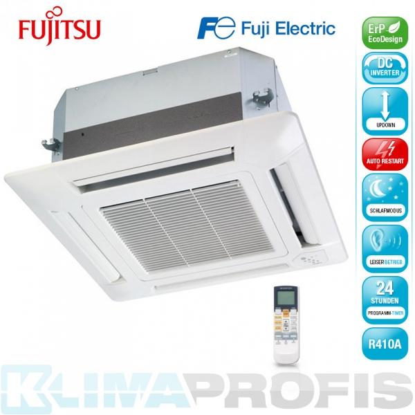 Fujitsu AUYG 07LVLA 4-Wege Kassettenklimagerät Inneneinheit Inverter - 2 kW