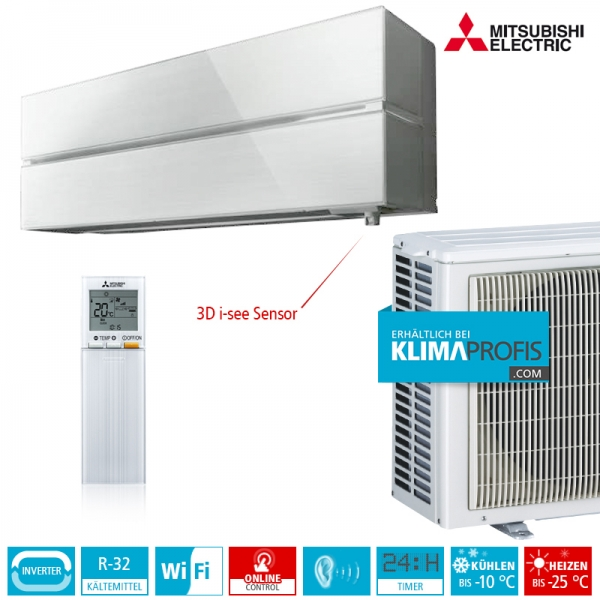 Mitsubishi Electric MSZ-LN35VG2 Diamond R32 Hyper Heating Wandklimageräte-Set - 4 kW