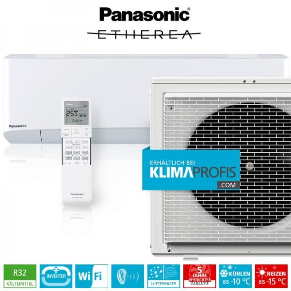 Panasonic Etherea CS-Z50VKEW WiFi R32 Inverter Plus Klimageräte-Set - 6 kW