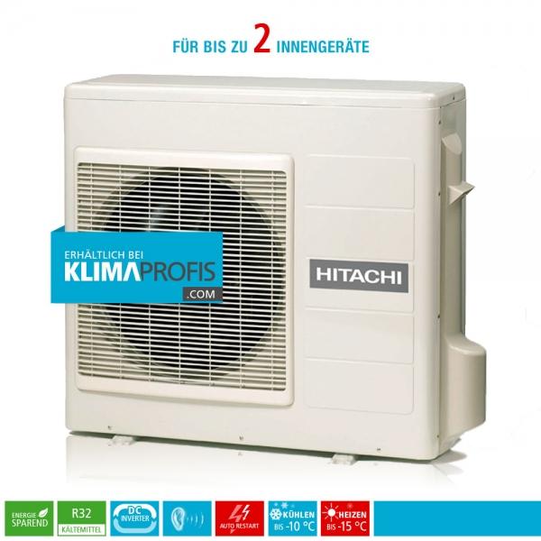 Hitachi Multizone RAM-33NP2E R32 Multisplit Inverter Außengerät 3,8 kW für 2 Innengeräte