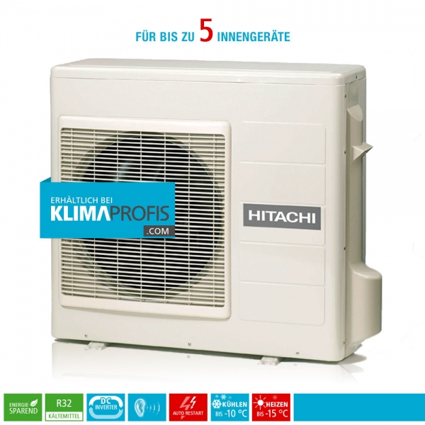 Hitachi Multizone RAM-110NP5E R32 Multisplit Inverter Außengerät 13,2 kW für 5 Innengeräte