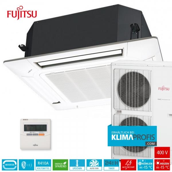 Fujitsu AUYG36LRLA R410A Inverter 4-Wege-Klimageräte-Set, 400 V - 11,4 kW