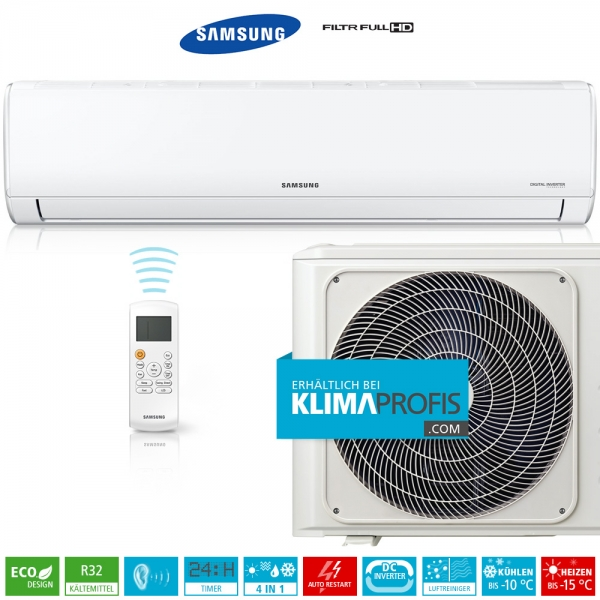 Samsung AR3500 AR 12 R32 Wandklimageräte Set, 4,2 kW, Full HD-Filter